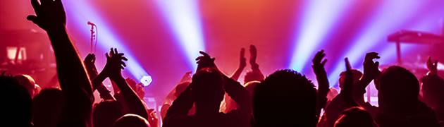Stock image of crowd at concert
